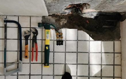 burst copper pipe repair