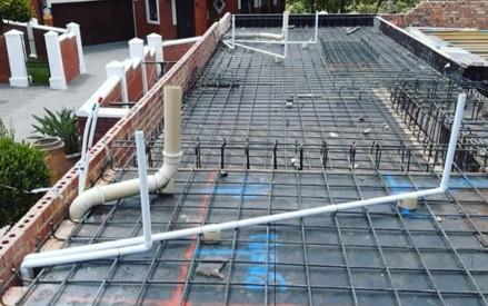 sewerage line installation