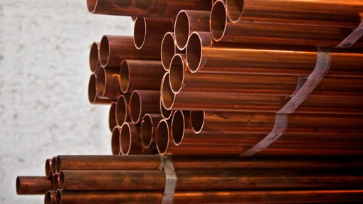 copper pipes in plumbing